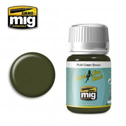AMMO of MiG - Panel line wash Green Brown