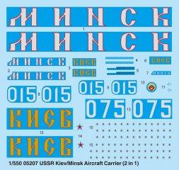 Trumpeter Kiev/ Minsk USSR aircraft carrier 1:550