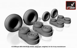 MiG-29 Fulcrum wheels w/ early hubs, weighted 1:32