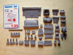 T-34/76 External parts for the ICM cast turret 1:35