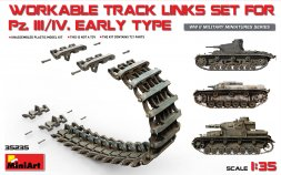 German workable track links for Pz.III/ Pz.IV early 1:35