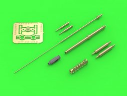 Master AH-64 Gun barrel, Pitot Tubes and tail antenna 1:32