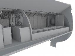 CMK U-Boot IX Front Crew Quarters (Burgraum) for Revell 1:72