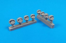 CMK Universal Military Pilot Heads w/ helmets 1:32
