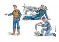 CMK RAF Mechanics (2 fig.) And Pilot WW II 1:72