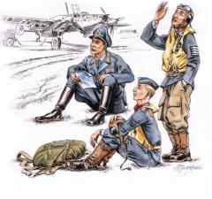 CMK German pilots at rest WW II 1:72