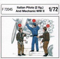 CMK Italian Pilots and Mechanic WW II 1:72