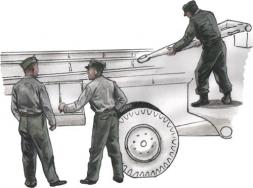 CMK German Meillerwagen V2 transporter personnel 1:72