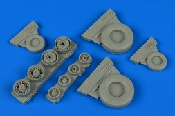F-14A Tomcat weighted wheels for Tamiya 1:48