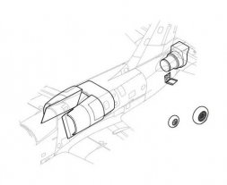 L-39 Air intake set for Special Hobby 1:48