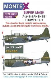 A-24B super mask for Trumpeter 1:32