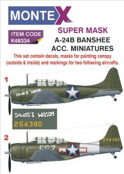 A-24B Banshee super mask für ACC. Miniatures 1:48