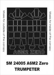 Montex A6M2b Zero mini mask for Trumpeter 1:32