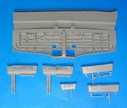 Vector P-51B/C wheel wells for Tamiya/ ICM 1:48