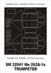 Me 262A mask for Trumpeter 1:32