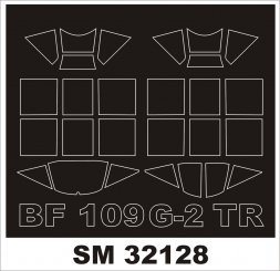 Bf 109G-2 mask for Trumpeter 1:32