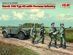 ICM Horch 108 Typ 40 with German Infantry 1:35