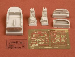 A-37 Dragonfly cockpit set for Academy 1:72