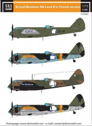 Bristol Blenheim Mk. I-II. in Finnish Service 1:72