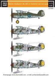 Gloster Gladiator in Swedish Service VOL.II 1:72