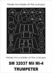 Montex Mil Mi-4A mini mask für Trumpeter 1:35