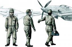 CMK Japanese Army AF Mechanics, WW II 1:72
