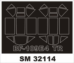 Bf 109E-4 Mask for trumpeter 1:32