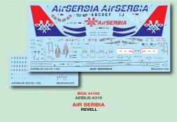 Airbus A319 - Air Serbia 1:144