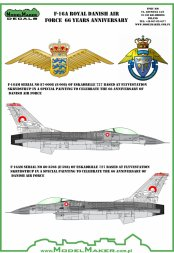 F-16A Royal Danish AF 66 Years anniversary 1:72