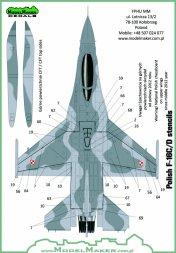 F-16C/D Polish Stencils 1:72
