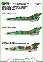 MiG-21 Fishbed - Bulgarian last flight 1:48
