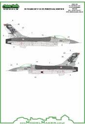ModelMaker F-16 20 Years in Portuguese service 1:48