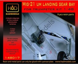 MiG-21UM landing gear bay for Trumpeter 1:48