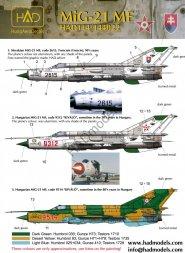 Hadmodels MiG-21MF - Slovakian & Hungarian Air Force  1:72