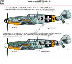 Hadmodels Bf 109G-2/G-4 1:72