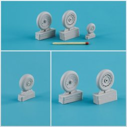 Fw 190 A/F/G/D wheels, late disk Continental tire 1:32