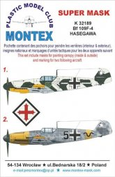 Bf 109F-4 super mask for Hasegawa part.1 1:32