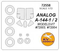 Analog A-144-1 / A-144-2 mask for Modelsvi 1:72