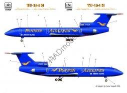 Tu-154M Pannon Airlines 1:144