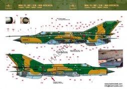 MiG-21MF stencil 1:144
