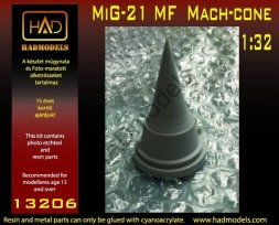 MiG-21MF mach-cone for Trumpeter kit 1:32