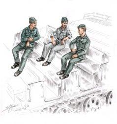 CMK German soldiers for FAMO 1:72