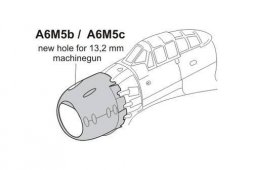 A6M5b/c Zero Cowling with MG Opening 1:72