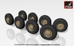 Armory BTR-70 APC series wheels w/ weighted tires KI-80N 1:72