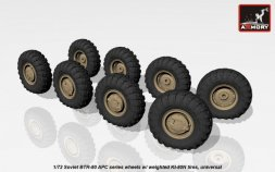 BTR-80 wheels w/ weighted tires KI-80N 1:72