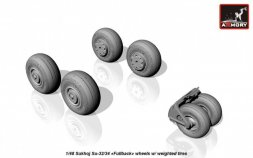 Su-34 Fullback wheels w/ weighted tires 1:48