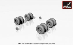 B-52 Stratofortress wheels w/ weighted tires 1:144