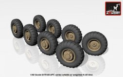 BTR-60 wheels w/ weighted K-58 tires 1:48