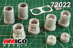 Su-24M/MR exhaust nozzles AL-12F for Trumpeter 1:72
