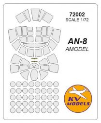 An-8 mask for Amodel 1:72